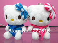 Snario Cute Cartoon Hello Kitty set Plush Doll Phone Straps Toy Approximately 10CM 50 pcs/lot Birthday Gift Free shipping by EMS