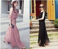 2013 spring female plus size sleeveless chiffon long dress beach skirt one-piece dress bohemia