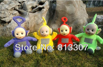 Free Shipping New Lovely Teletubbies Plush Doll Stuffed Toys 10'' Singing Toy Blue Green Red Yellow Kids best Friend Toys Gift