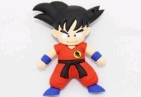 Cool! cartoon Goku model USB 2.0 Memory Stick Flash pen Drive 4G 8G 16G