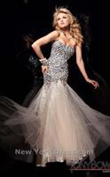 2013 Hot Sale Cutom Sweetheart Sheath Floor Length Beaded Tulle Formal Evening Dress