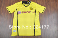 free shipping -Hot Sale! 201314 Borussia Dortmund top thailand quality home yellow soccer football jerseys, BVB soccer uniforms