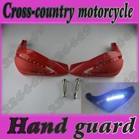 Free Shipping LED Motorcycle Dirt bike ATV Hand Guards For Honda Suzuki Yamaha Kawasaki Husqvarna KTM GasGas - Red