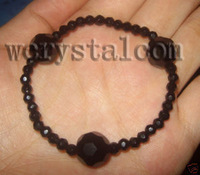 Black Onyx Faceted 4mm 12mm Bracelet Stretch