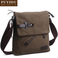 Man bag 100% cotton canvas casual male casual bag shoulder bag messenger bag