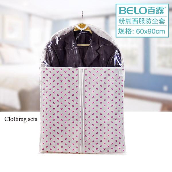 Belo saddam powder transparent dust cover flat suit overcoat cover clothes dust cover overcoat suit storage bag(China (Mainland))