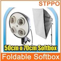 "Photography Rectangle Continuous SoftBox Lighting Kit  20""x27""50x70cm Softbox 4 Socket"