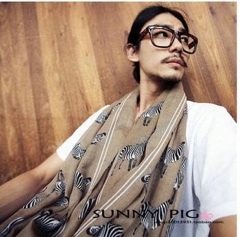 free shipping 2013 Korean winter scarves wholesale Voile Cotton zebra pattern long shawl 1703
