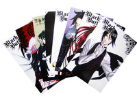 Free shipping! Black Butler High Quality 8 pcs/set Embossing Posters Wall Sticker Anime Fans Collection