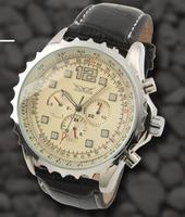 Men White Automatic  6 Hands Week/Date/24H Mechanical watch Wrist watch Xmas Gift Free Ship