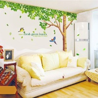 3pcs/set 60*90cm Free shipping, Removable Art Vinyl Wall Stickers Home living room Decor Mural Decal Extra large wall sticker