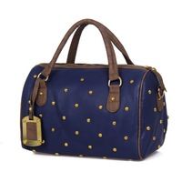 Women's handbag 2012 gharial fashion vintage rivet women's handbag crocodile pattern handbag messenger bag