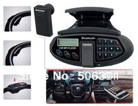 Free shipping + XN-88A Car Steering Wheel Car Kit with Bluetooth Headset, Phonebook, MP3 Player and FM Radio (Black)