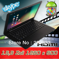 cheap netbooks 13.3 inch laptops VS netbooks VIA 8850 android RAM1GB ROM8GB