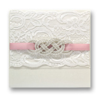 New Arrivel ~Elegant Handmade Lace Wedding Invitation With Rhinestone  ,Wedding Favors and Gifts  ,Free Wording Printing