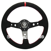 "Hot Sell 13"" Sparco Steering Wheel Suede Leather / Racing Auto Steering Wheel Sparco Suede / Sparco Auto Parts"