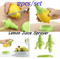 Hot 2 pcs/set Lemon Juice Sprayer Citrus Spray Hand Juicer Mini Squeezer Kitchen Tools  Free Shipping