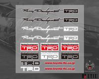 adhesive toyota TRD pvc sticker printing