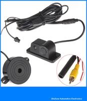 2 In 1 car reverse backup radar video system Anti-collision parking sensor Distance Control, Free Shipping