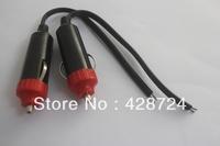 Male Car Cigar Cigarette Socket Plug Connector Lead power distribution 2 pcs/lot on sale!