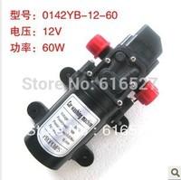 Free shipping 12V 60W micro diaphragm pump discharge pressure backflow 0142Y(H)A(B) thread water pump wash car