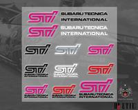 subaru STI logo paper sticker