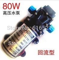 Free shipping 24V 80W micro diaphragm pump discharge pressure backflow 3201 thread water pump wash car