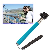 Free Shipping Fotopro Extendable 7 Sections Digital Camera Handheld Monopod Tripods Wand Rod Blue
