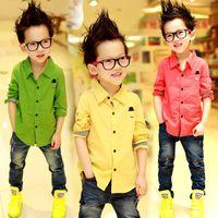fall 2014 autumn long-sleeve shirt for children Boys T-shirt children shirts kids clothes outwear children clothing tops blouse