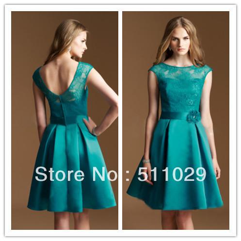 FREE-SHIPPING-BD-133-cap-sleeves-green-lace-bridesmaid ...