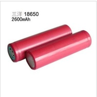 2 PCS Sanyo 18650 Lithium Battery 2600 mA 3.7 V Digital products while LED Flashlight Batteries + Ffree shipping