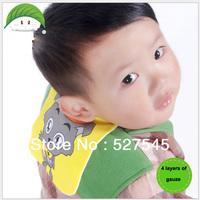 baby absorb sweat towel 4 layers of gauze/sweat mat towel/mat back saliva owels/ baby bib