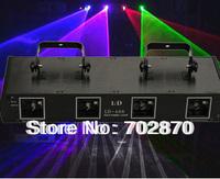 570mw Professional Stage laser Lighting 4 Heads 4 Lens 4 colors RGPB RGPB DJ Laser Light Show Beam sound active,DMX,Manual