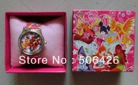 Lots 1pcs Winx Club watch Wristwatches WITH BOX GIFT XMAS GIFT FREE SHIPPING DROP SHIPPING