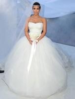 2013 New Arrival Applique Celebrity Dress kim kardashian Wedding Dress Bridal Gowns