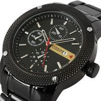 Hot CURREN luxury brand new man fashion analog sport QUARTZ BLACK  DIAL CLOCK for MEN Stainless STEEL WRIST WATCH,free shipping