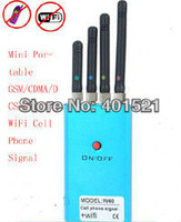 Hot sell Mini Portable CDMA/GSM/DCS/PHS/3G/WiFi Cell Phone anti Signal generator  W40