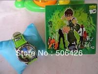 Free shipping 1pcs/lot new Ben 10 Watch Kid Children Cartoon Wrist watch with Gift box