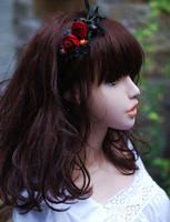 Handmade vintage retro velvet finishing flower berry hair bands headband