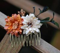 Handmade velvet small daisy flower vintage comb