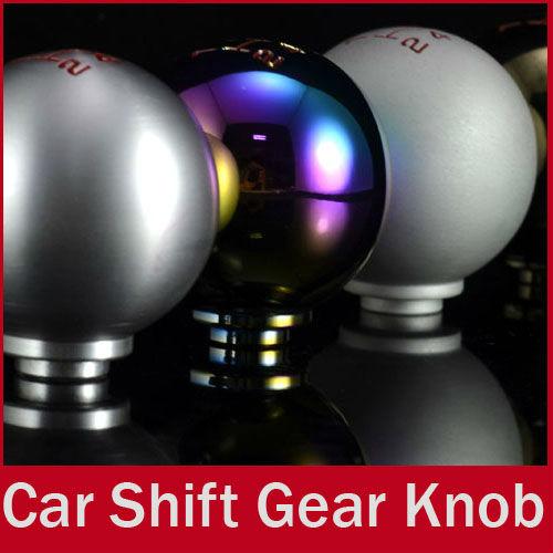 Universal Spherical 5 Speed Manual Car Auto CNC Titanium Shifter Gear Stick Shift Knob for Honda Civic Acura(China (Mainland))
