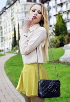 Free shipping 2013 New fashion hight waist women's culotte ,candy colored chiffon casual skort pants