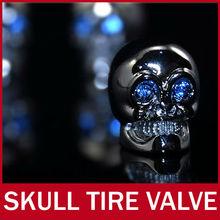 10set (40PCs)/lot Luxury Car Van Truck Bike Motorcycle Chrome Skull Tire Tyre Valve Caps Dust Covers Stem JP Wheel decoration