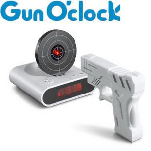 'lazy réveils nouveauté& gag jouets créatives. novity pistolet pistolet infrarouge heures vous réveiller tôt bonne vente