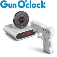 Lazy Alarm Clocks Novelty & Gag Toys Creative Novity Pistol Infrared Gun O'clock wake you up soon Good Selling