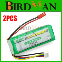 2x 11.1v 20C 800Mah ESKY-001336 Ek1-0188 RC LiPo battery AKKU For Esky Big lama Helicopter #931