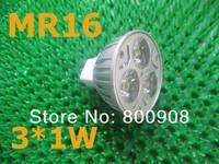 DHL free ship MR16 3W led spotlight