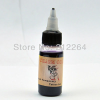 Temporary Airbrush Tattoo Common Ink - Deep Purple color  pigment  free shipping TO USA BY DHL