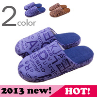 2013 winter men's soft indoor home floor cotton-padded slippers
