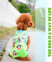 dog clothes dog puppy summer cargo bibpants spottyS-XL 6colors